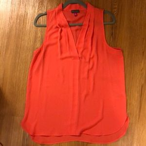 Women's coral sleeveless top